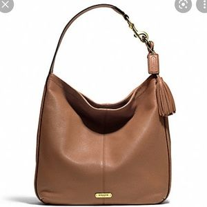 Coach Avery Tab Leather Hobo Bag Large